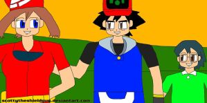 Ash May And Max I Like So Biggest Friendship by scottytheshieldguy