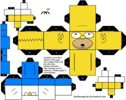 homer simpson cubee by darthmagician