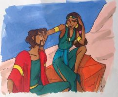 Moses and Zippora by MaryJet
