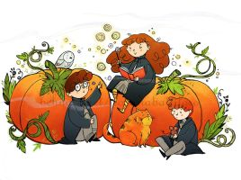 Halloween at Hogwarts by Nachan