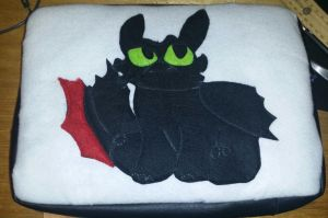 Toothless laptop case W.I.P by Shadowphonix11