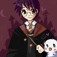 Harry n Hedwig Kaki COLORED by mione2