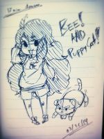 Bee and Puppycat Sketch! by sayuttan