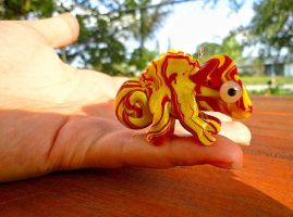 Red Marbled Chameleon! by RabidPuppy101