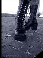.boots are made for walking. by JL-Digitalz