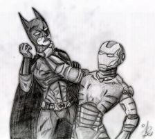Batman vs. Iron Man by IreneLaMagra