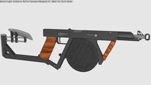 Daron Light Infantry Rifle Art Trade Concept by doug7070