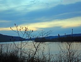 Ohio River Sunset by bigpaganjames