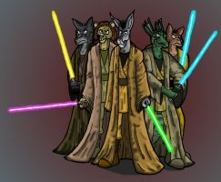 Jedi Furries by Osiolek