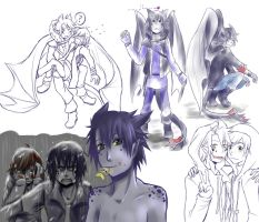 HTTYD Human Toothless Sketches by Medli45