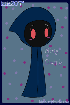 misty the cloak ghost cosmic (gift) by blueiceegirlart
