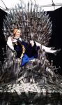 Prince Lestat on his Iron Throne! by Senra-Eclipse