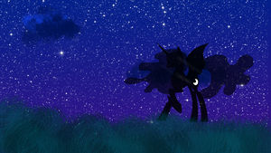 Nightmare Moon Wallpaper by MoonGazerThePony