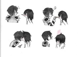 EVEN MORE POCKY KISSES by HellishGayliath