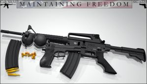 Maintaining Freedom M4 Render3 by foxgguy2001