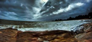 Tropical Storm Irene by butterphoto