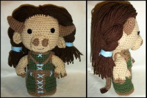 Tauren Female Shaman Sackdoll by GamerKirei