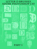 Letter D Brushes Part 1 by BohemianResources