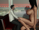 Giantess in Pizzeria 29 by Aryvan