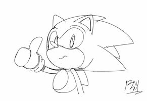 Sonic CD - Thumbs up by RGXSuperSonic