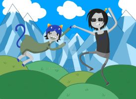 Nepeta and Equius - WHAT TIME IS IT?! by P3NN1L3SS