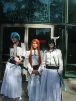 Grimmjow Jeagerjaques, Orihime Inoue, and Ulq by AnimeOCD1323