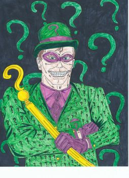 The Riddler-Portraits of Villainy by Vultureclaw