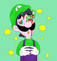SMB_Luigi's Mushrooms by Chivi-chivik