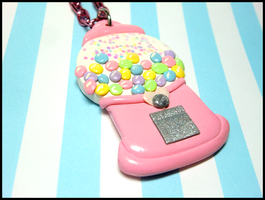 Gumball Machine Necklace by GrandmaThunderpants