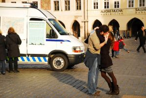 Photoproject Prague - Kiss by mtkocak