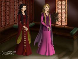 Mother Gothel and Rapunzal. by Katharine-Elizabeth