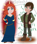 Hiccup Draconian and Merida Fireheart by DivineSpiritual