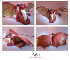 Atlas - The Red Dragon Sculpture by TheBlack-Arrow