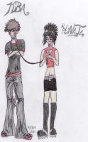 Emo Hinata and Emo Kiba by VampireGoddess20