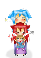 Family Totem Pole by Sakurarmarie