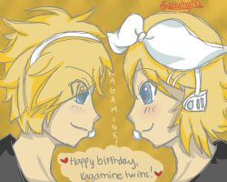 Happy Birthday, Kagamine Rin and Len! by RainPetals