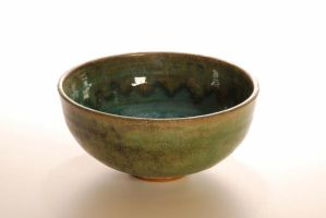ocean blue bowl by Recycled-Oxygen