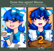Draw This Again! Meme [Alice in Randomland B-Day] by irenereru