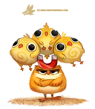Daily Paint 1308. Chick Magnet by Cryptid-Creations
