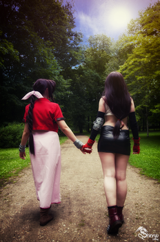 Tifa And Aeris by szarancza-a