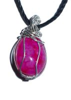 Wire Wrapped Pink Agate 2 by ChibiKinesis