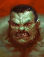 Hulk warmup painting by davidsmit