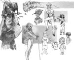 gray pencil characters 5 by Sally-Avernier