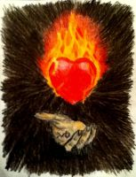 Burning Heart by MonsieurJackass