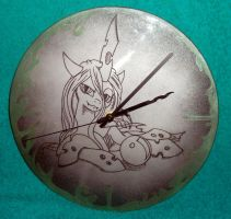 MLP - 'Queen Chrysalis' (clock ENGRAVE) by Cerebralis