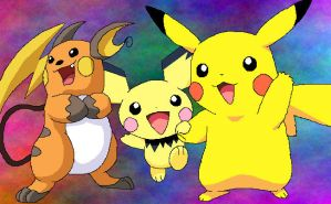 Evolution Pikachu by TikaFauxx