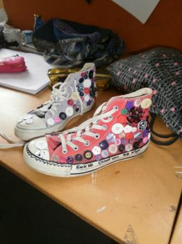My Uncomfortable but Really Groovy Odd Chucks by EllieJelly666