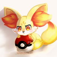 fennekin is angry! by enmoire