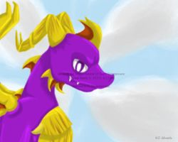 Adult Spyro Painting by BatLover800