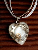 Steampunk Wedding Heart by OcularFracture